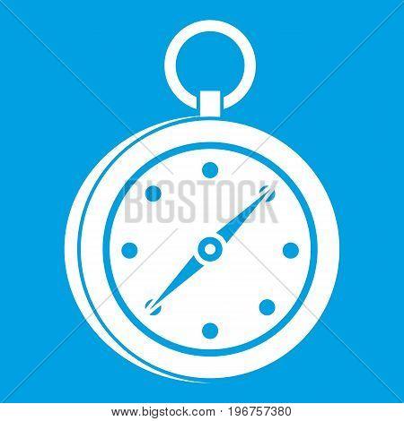 Multifunction knife icon white isolated on blue background vector illustration