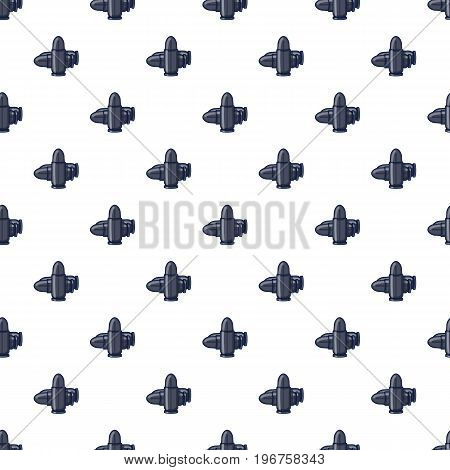 Bullets pattern seamless repeat in cartoon style vector illustration