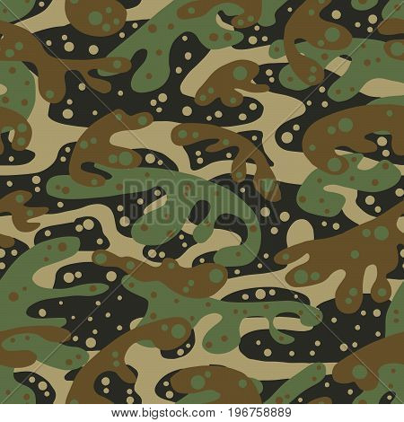 Seamless Fashion Textile Camouflage Pattern