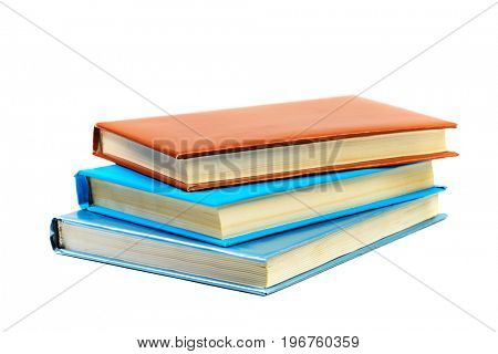 Heap of books isolated on white background