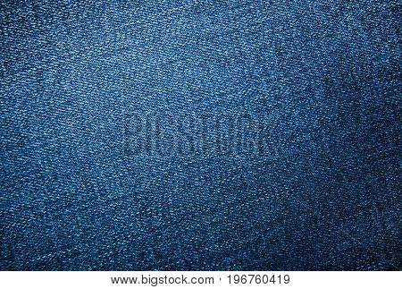 Blue jeans background or texture pattern