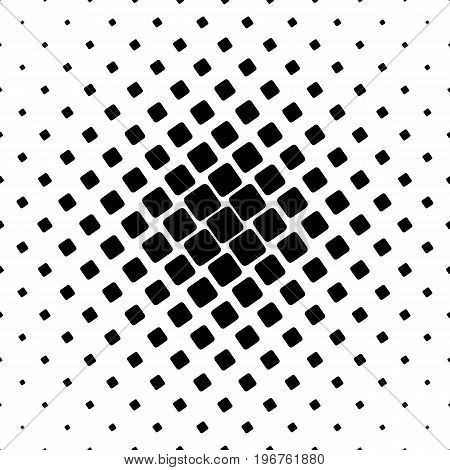 Black and white square pattern - geometrical halftone abstract vector background graphic from angular rounded squares
