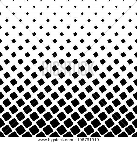 Monochrome square pattern - geometrical halftone abstract vector background graphic from angular rounded squares