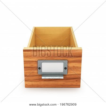 Empty drawer for folders and files. Archive. 3d illustration