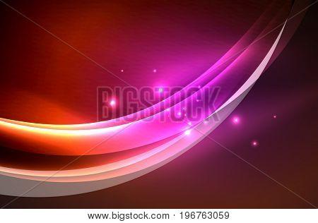 glowing wave, smoke design wavy lines
