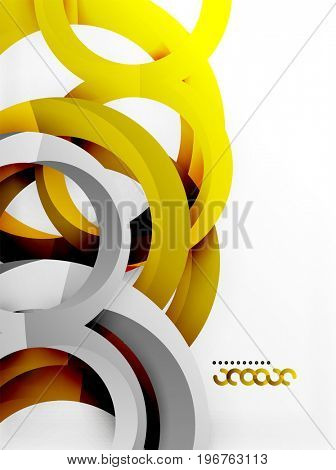 3d rings and swirls design background