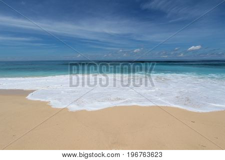 Bali beach with white sand in Bukit