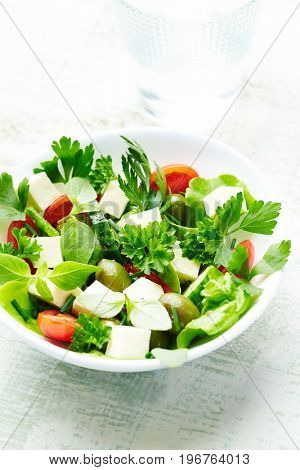 Mediterranean-style Salad with green olives