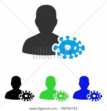 Bacteriologist vector pictogram. Style is flat graphic bacteriologist symbol using some color variants.