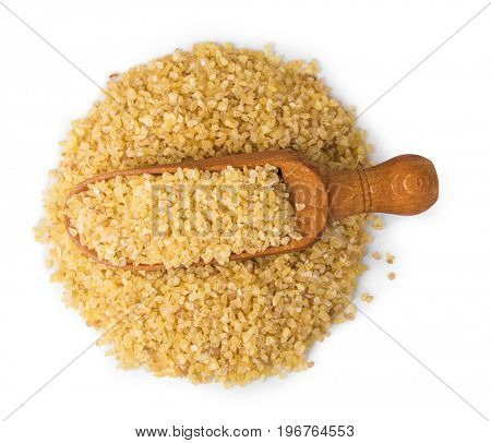 bulgur cereal isolated on white
