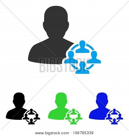Politics vector pictogram. Style is flat graphic politics symbol using some color variants.