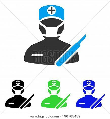 Surgery vector pictogram. Style is flat graphic surgery symbol using some color variants.