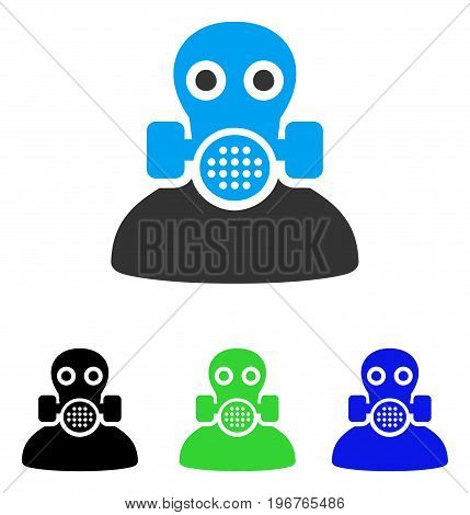 Toxic Work vector pictogram. Style is flat graphic toxic work symbol using some color variants.