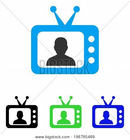 TV Speaker vector icon. Style is flat graphic TV speaker symbol using some color variants.