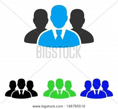 User Group vector pictograph. Style is flat graphic user group symbol using some color variants.