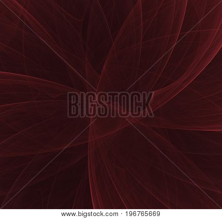 Abstract red fractal background concept of mystery.