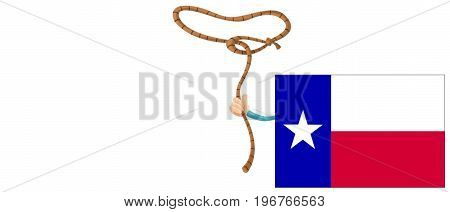 Illustation of Texas. Texas concept. Texas Flag. White background