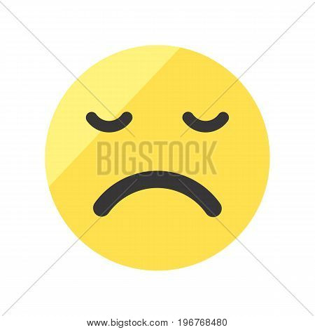 Upset and offended smiley vector image. Emoji smileys.