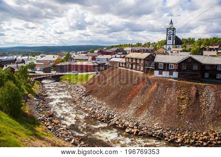 small town Roros in Norway