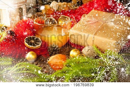 2018 New year and christmas background. Sparkle magic snow. J