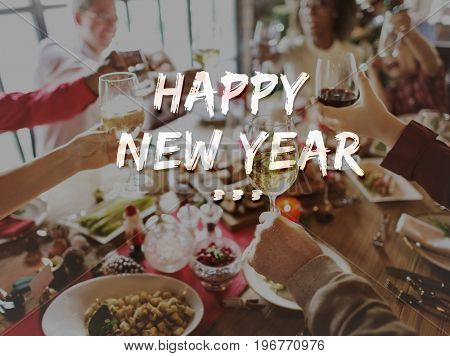 Happy New Year 2017 Celebration Greeting Concept
