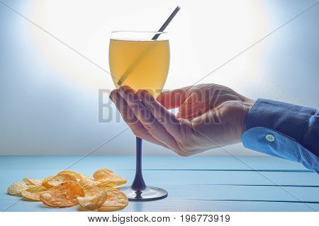 Hand With Cocktail Drink