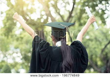 The successful graduating student with nature background