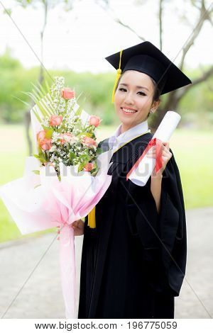 Happy Graduated Student Girl