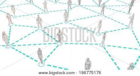 Social Networking People as a Business Concept 3D Illustration Render