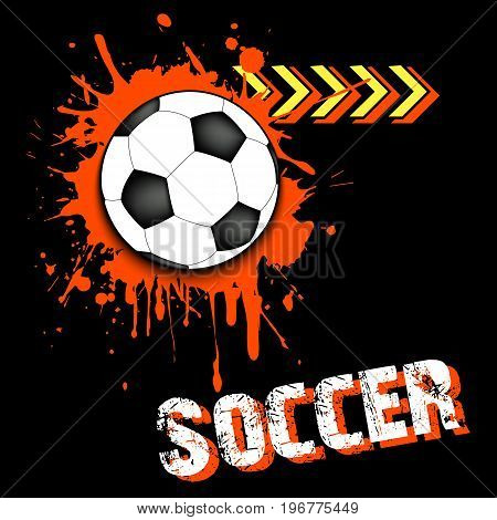 Background Abstract Soccer Ball From Blots