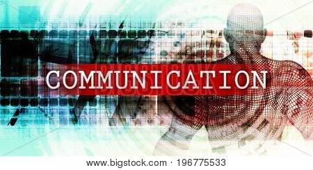 Communication Sector with Industrial Tech Concept Art