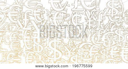 Currency Signs Background Pattern as a Art