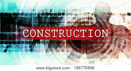 Construction Sector with Industrial Tech Concept Art