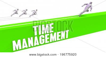 Time Management as a Fast Track To Success 3D Illustration Render