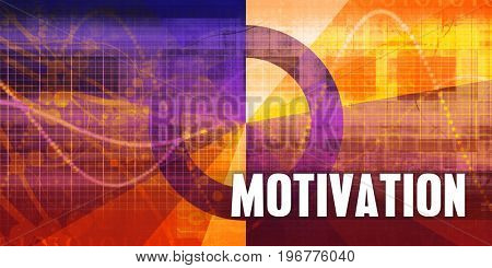 Motivation Focus Concept on a Futuristic Abstract Background