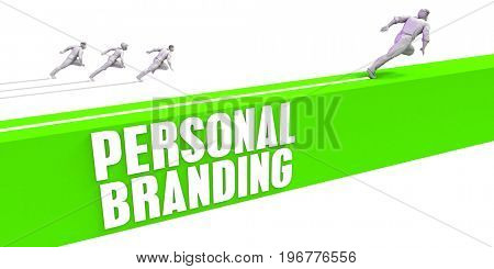 Personal Branding as a Fast Track To Success 3D Illustration Render