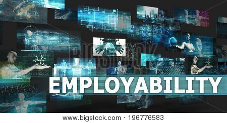 Employability Presentation Background with Technology Abstract Art
