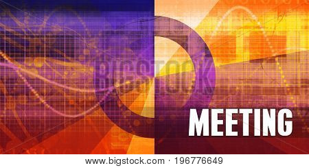 Meeting Focus Concept on a Futuristic Abstract Background