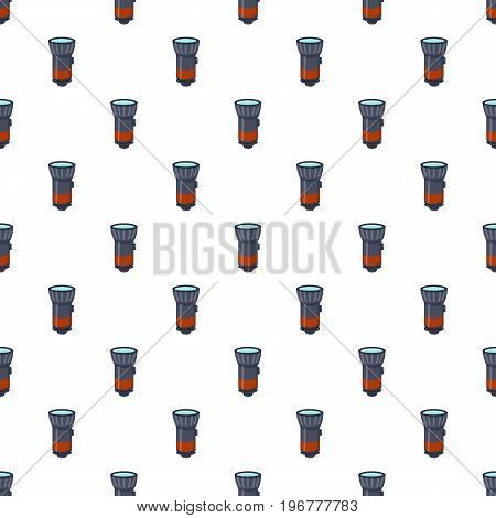 Flashlight pattern seamless repeat in cartoon style vector illustration