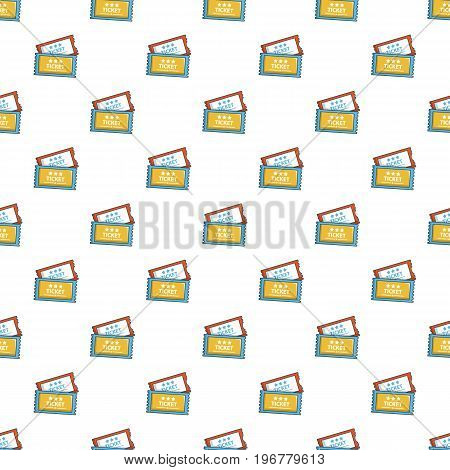 Cinema tickets pattern seamless repeat in cartoon style vector illustration