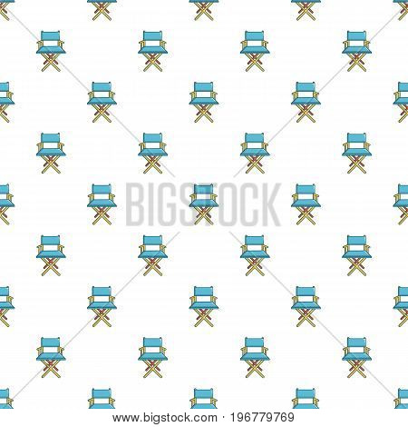 Cinema director chair pattern seamless repeat in cartoon style vector illustration