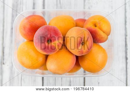 Portion Of Fresh Apricots (selective Focus)