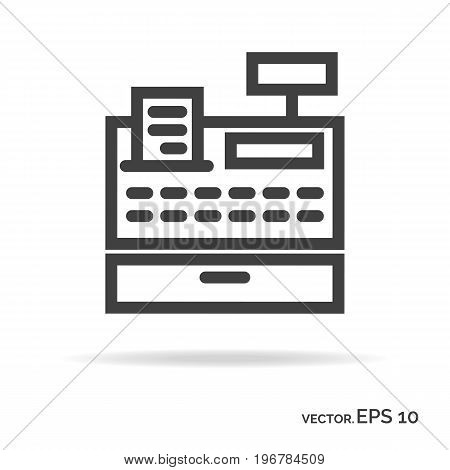 Cash machine outline icon black color isolated on white background