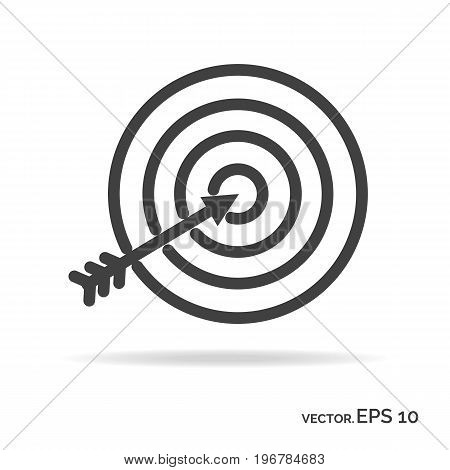 Goal achievement outline icon black color isolated on white background