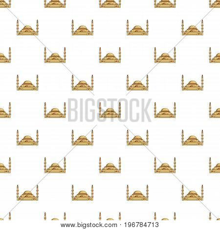 Mosque pattern seamless repeat in cartoon style vector illustration