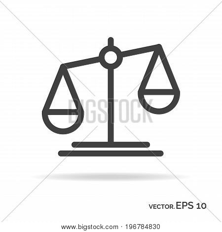 Scales outline icon black color isolated on white background