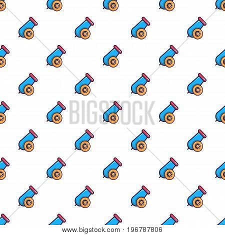 Colorful circus cannon pattern seamless repeat in cartoon style vector illustration