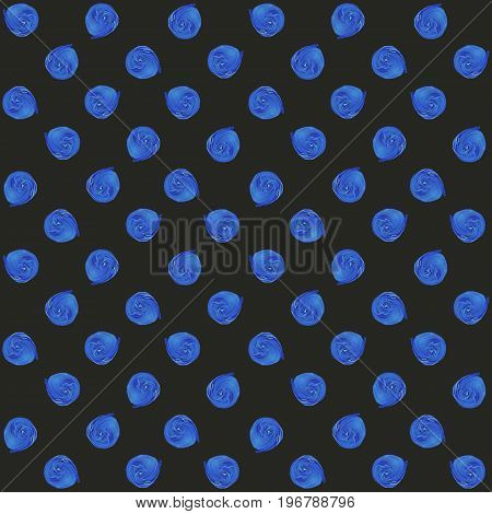 Blue Pastel Polka Dot Seamless Pattern, Acrylic Dotted Background.