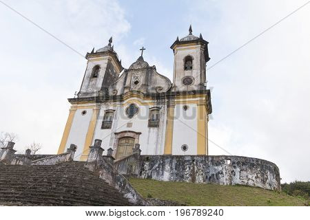 The church of San Francisco de Paula in Ouro Preto Minas Gerais was building in the Brazilian colonial period between 1804 and 1884. In rococo style.