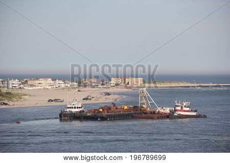 Tugboat off the coast of Atlantic City & Brigantine, New Jersey